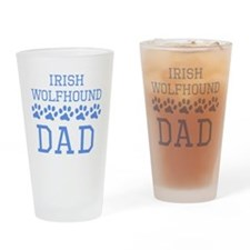 Irish Wolfhound Dad Drinking Glass