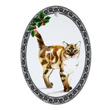 Bengal Cat Oval Ornament