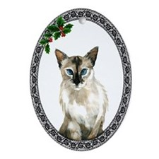 Balinese Cat Oval Ornament