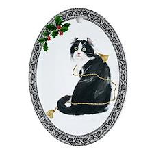 American Curl Cat Oval Ornament