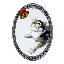 American Curl Cat Oval Ornament
