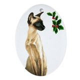 Siamese Beauty Cat Oval Ornament