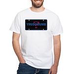 YRUSODUMB? White T-shirt