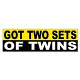 GOT 2 SETS OF TWINS Bumper Bumper Sticker