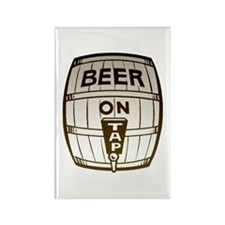 Beer On Tap Rectangle Magnet