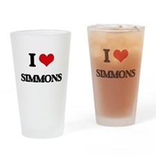 I Love Simmons Drinking Glass