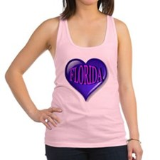 FLORIDA Blue Diamond Heart Racerback Tank Top