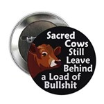 Sacred Cows and Bullshit Button (10 pack)