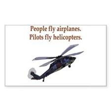 Heli pilots HH-60 Rectangle Bumper Stickers