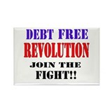 Debt Free Revolution Rectangle Magnet