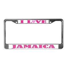 I Love Jamaica License Plate Frame