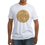 Gold Liberty 1986 Fitted T-Shirt