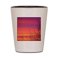 One Fine Morning Pink Sunrise Shot Glass