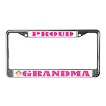 Proud Grandma License Plate Frame