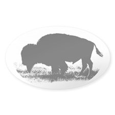 Buffalo Nickel Oval Decal