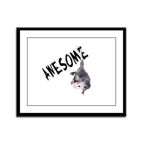 Awesome Possum Framed Panel Print