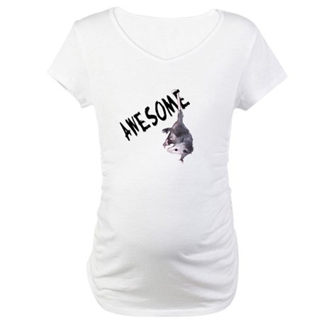Awesome Possum Maternity T-Shirt