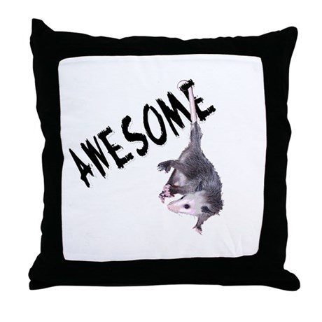 Awesome Possum Throw Pillow