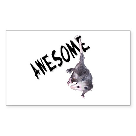 Awesome Possum Rectangle Sticker