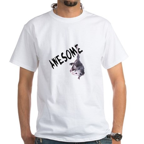 Awesome Possum White T-Shirt