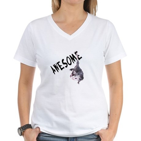 Awesome Possum Women's V-Neck T-Shirt