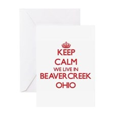 Keep calm we live in Beavercreek Oh Greeting Cards
