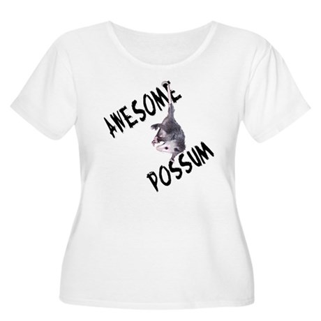 Awesome Possum Women's Plus Size Scoop Neck T-Shir