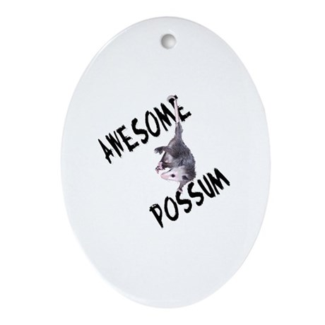 Awesome Possum Oval Ornament