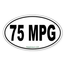 75 MPG Euro Decal
