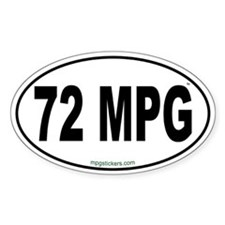 72 MPG Euro Decal