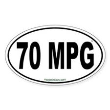 70 MPG Euro Decal