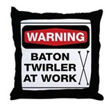 Baton twirler Throw Pillows