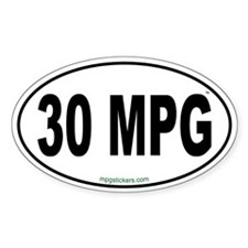30 MPG Euro Decal