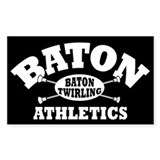 Baton Athletics Rectangle Decal