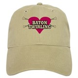 I Heart Baton Twirling Baseball Cap