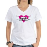 I Heart Baton Twirling Shirt