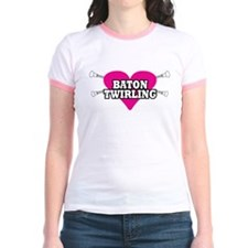 I Heart Baton Twirling T
