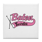Baton Twirler Tile Coaster