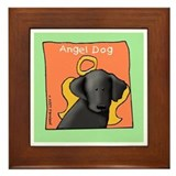 Angel Labrador Art Framed Tile
