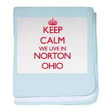 Keep calm we live in Norton Ohio baby blanket