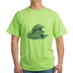 Happy Dolphin Green T-Shirt