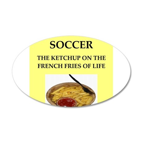 soccer 20x12 Oval Wall Decal