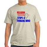 Religion stops a thinking mind