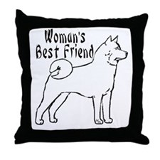 Cute Akita Throw Pillow