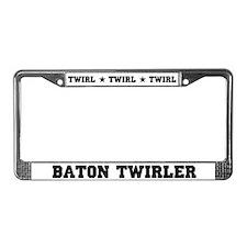 Baton Twirler License Plate Frame