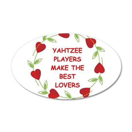 YAHTZEE.png 20x12 Oval Wall Decal