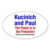 Kucinich and Paul Oval Decal