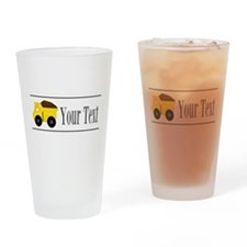 Personalizable Dump Truck Drinking Glass