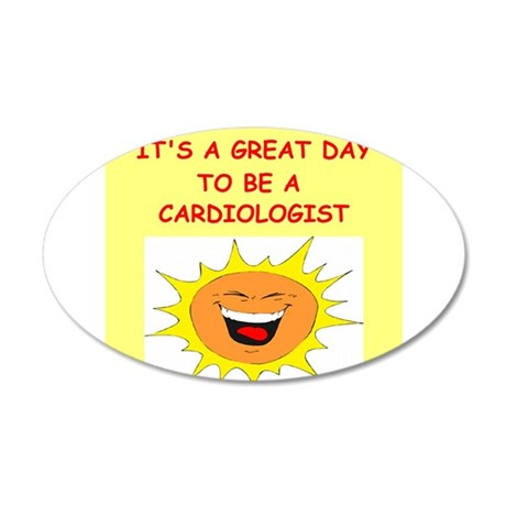 CARDIOLOGIST.png 20x12 Oval Wall Decal