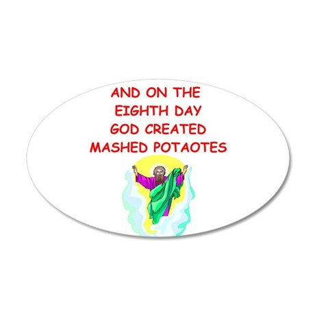 MASHED.png 35x21 Oval Wall Decal